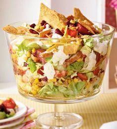 Das Rezept für Mexikanischer Schichtsalat und weitere kostenlose Rezepte auf Kochen und Genießen