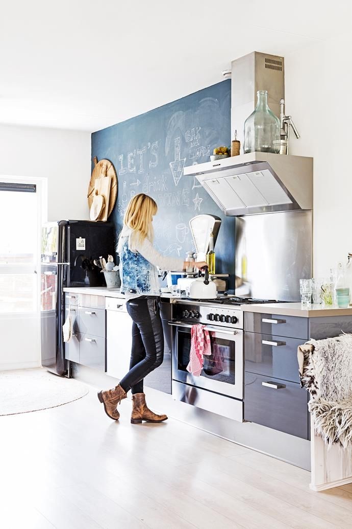 Industrial-style Ikea kitchen.| Photo: Hans Mossel | Styling: Sabine Burkunk | Story: Real Living