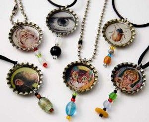 Gil: Tampinhas de garrafas....reciclagem em acessórios e artesanatos, obras de arte...
