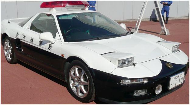 Japanese Police car HONDA NSX