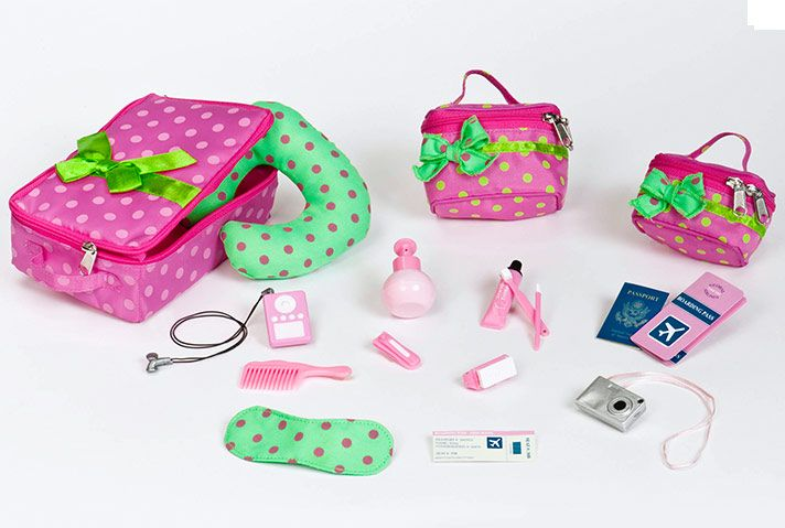 Luggage and Travel Set | Our Generation Dolls. I have this set and it is SO amazing I highly recommend this set to anyone with an 18in doll.