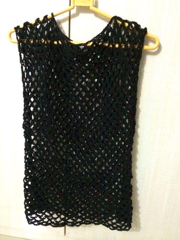 Crochet summer top, mesh top, quick easy pattern - http://www.popsdemilk.com/mesh-summer-top/
