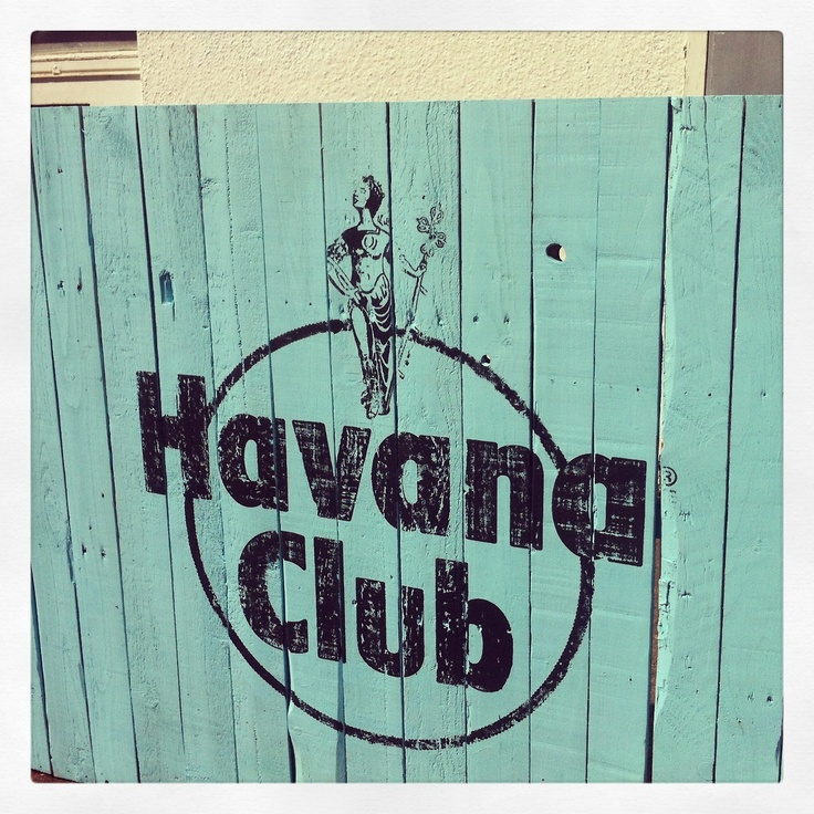 Custom stamp made for Havana Club bespoke bar
