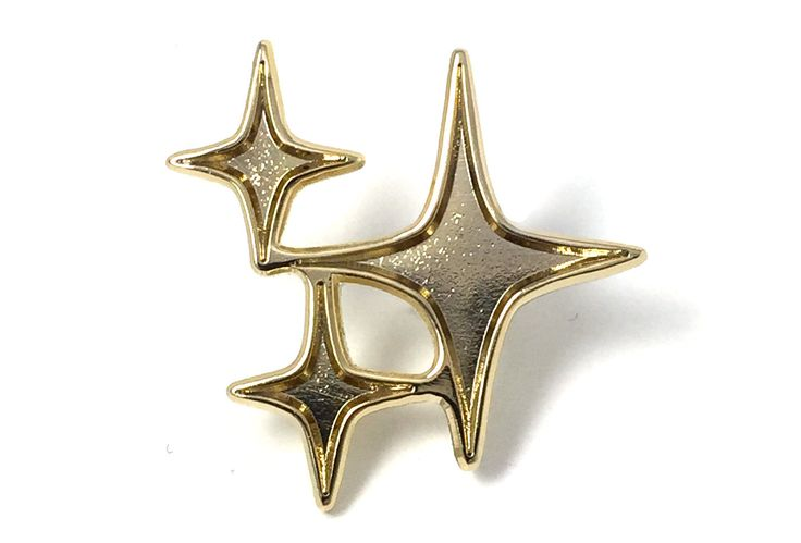 "1"" x 1"" x 2mm Gold plated brass pin with hard enamel Black rubber pin clutch"