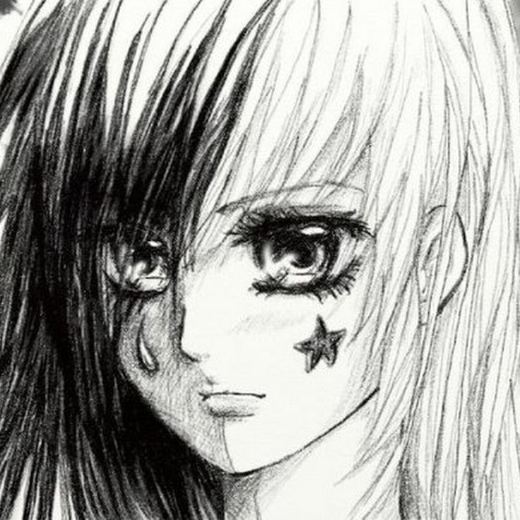 Sad Anime Drawings In Pencil | HD Wallpaper Gallery