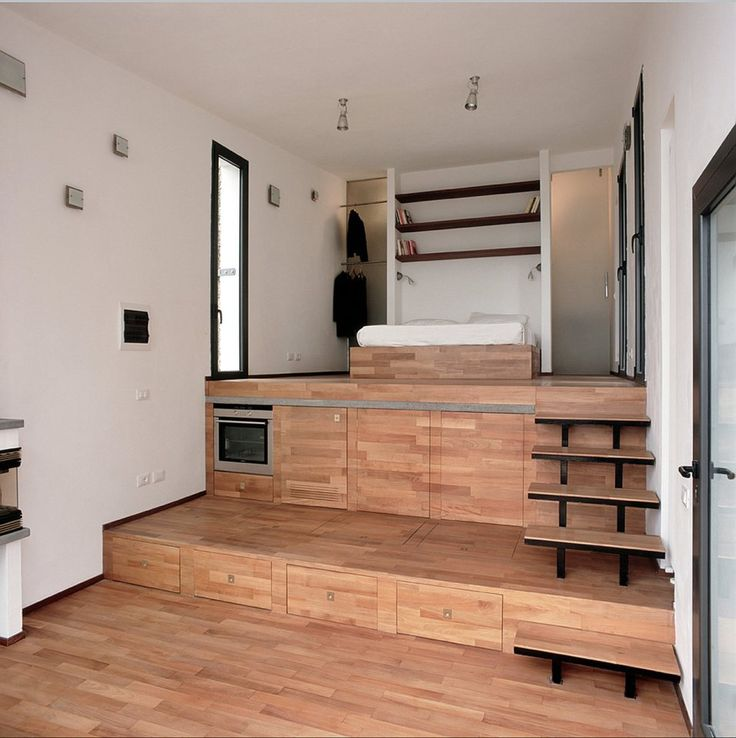 110 best raised floor storage images on pinterest for Bed built into floor