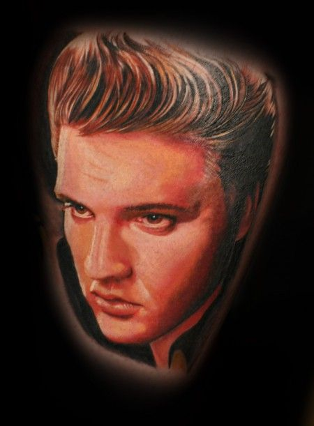 Tattoo-Foto: mario hartmann,elvis, I can only hope my Elvis tattoo will look this nice.