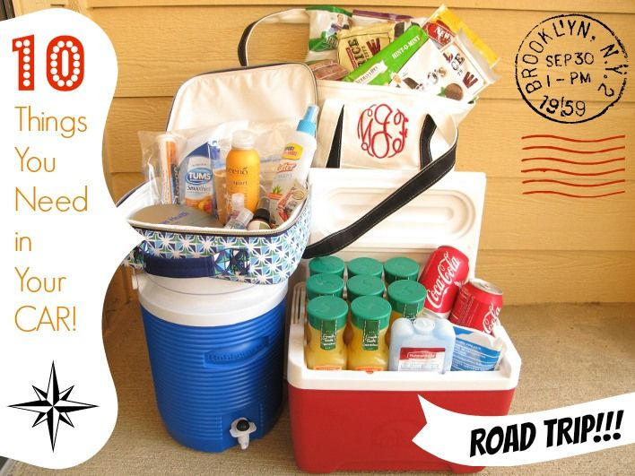 10 things you need in the car for a road trip