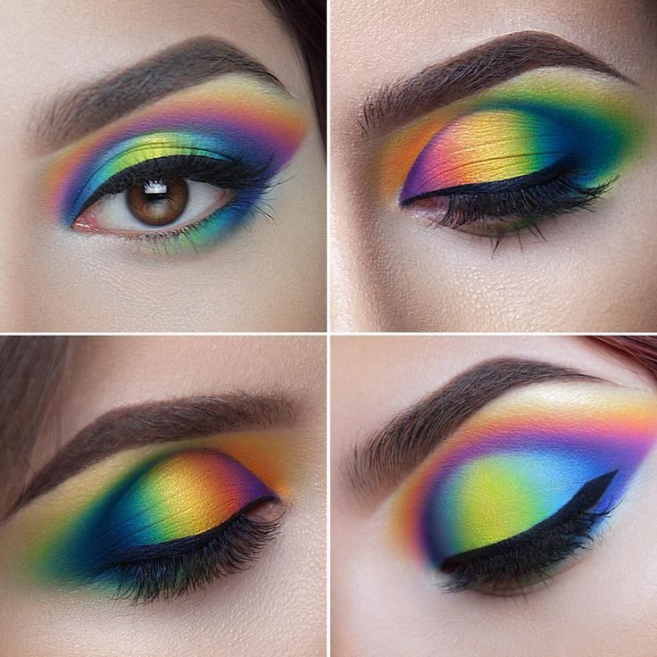 """""""Proceed with care ❗️ EXTRA colorful #closeup #makeup by me #marialihacheva…"""