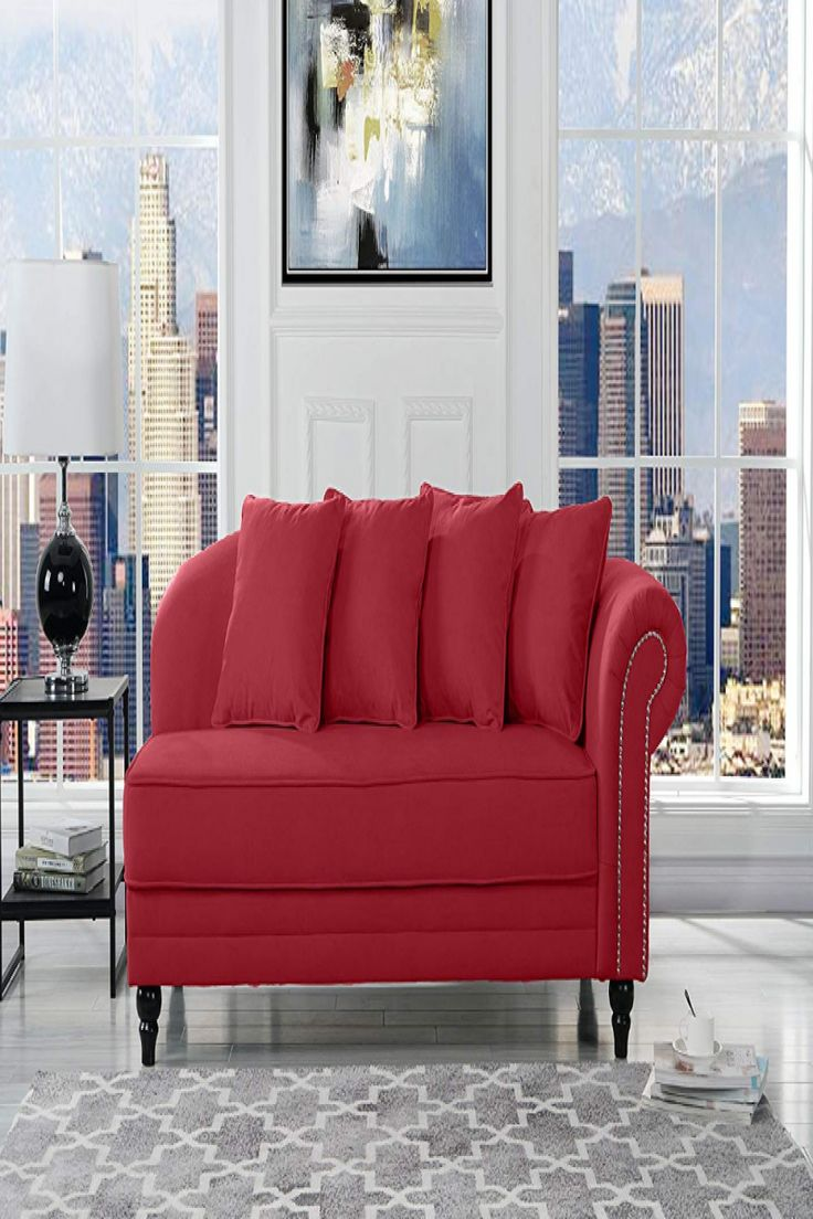 red lounge chair indoor