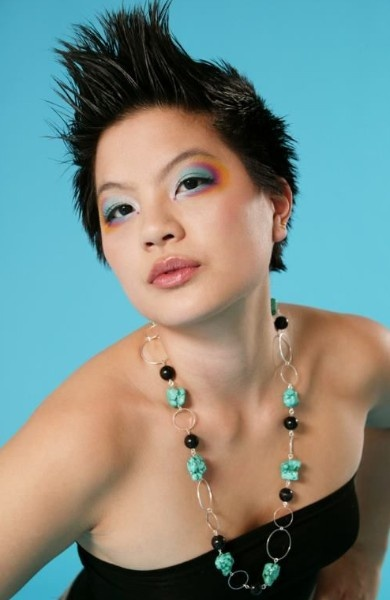 The lovely Cassandra modelling Daelia Jewellery at our promotional shoot in April of 2008. Handcrafted, one of a kind, Canadian!    [ #necklace, #jewellery, #jewelry, #earrings, #earing, #earring, #fashion, #accessories, #daelia ] Check out more at www.daelia.com