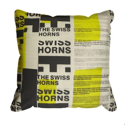 Pony Rider - Swiss Horns Cushion Cover