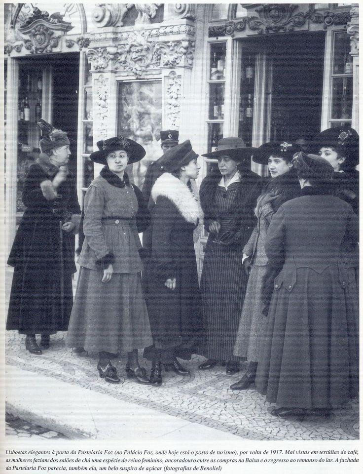 Lisboetas elegantes em 1917 (Joshua Benoliel)