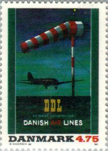 Poster - D.D.L. (Danish Airlines, 1945)