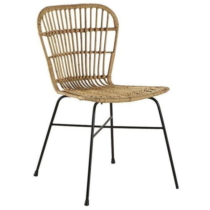 Chaise Style Industiel Rotin Naturel Et Metal Canada Marron Pier Import La Redoute En 2020 Chaise Rotin Chaise Chaise Pliante