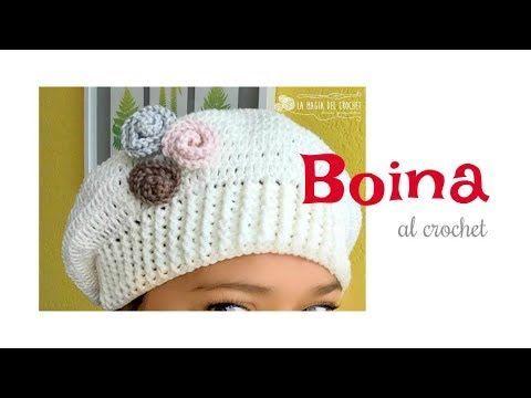 Cómo hacer una Boina fácil al crochet - YouTube