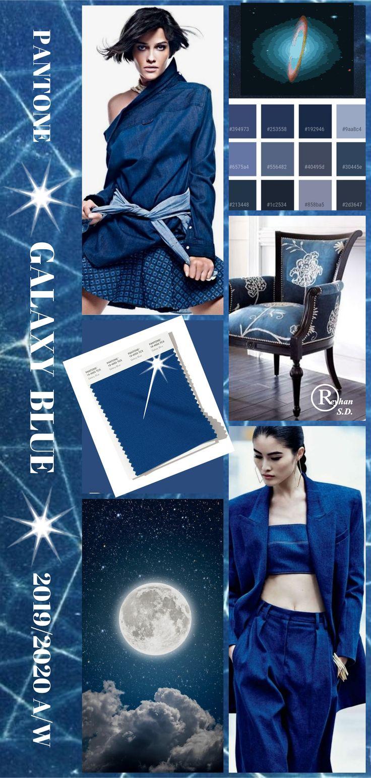 """ Galaxy Blue"" Pantone – Autumn/ Winter 2019/ 2020 Color- by Reyhan S.D."