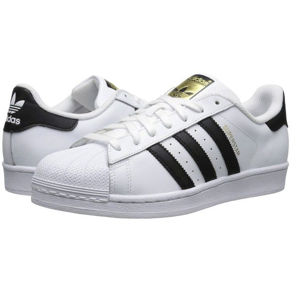 adidas Originals Superstar 2 (White/Black/White 2) Classic Shoes ($60) ❤ liked on Polyvore featuring shoes, white, adidas originals, black white shoes, traction shoes, adidas originals shoes and grip shoes