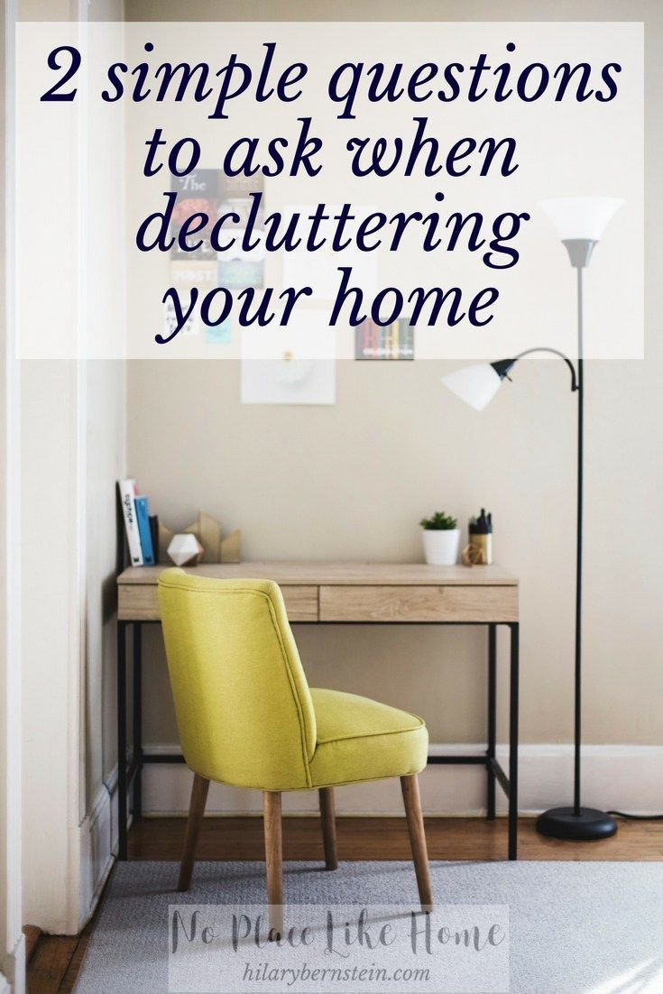 Love this decluttering advice ...