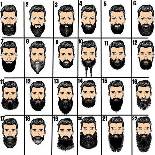 Comenta aí qual o seu número de estilo de barba favorito! Qual estilo arriscar? Você decide seu estilo!