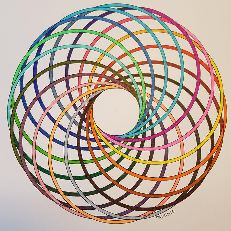 #torus #geometry #symmetry #pattern #circle #disk #mathart #regolo54 #handmade #vortice