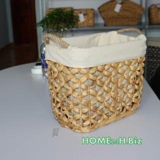 Home24h co,.ltd: Bushel Baskets Water Hyacinth material Home24h / Bushel Basket Rope Handle- Home24h.biz