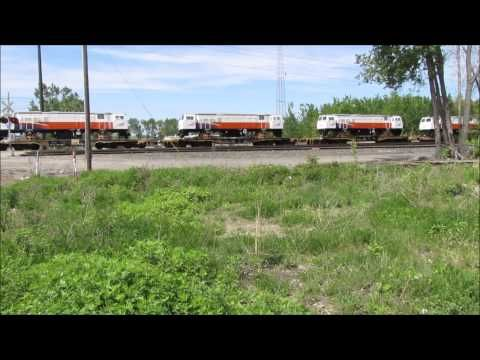 New GE Export Locomotives For The Indonesian Railway On The CSX Local Erie PA By Jim Gray