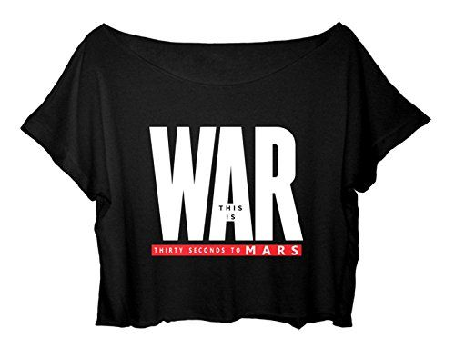Women's Crop Top Thirty Seconds to Mars T-Shirt This Is War 30 Seconds To Mars Shirt