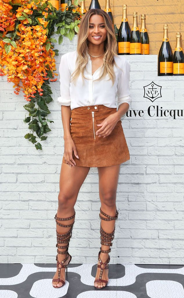 Gladiator Goddess From Fashion Police Ciara Masters Casual Chic In A White Theory Blouse A Miss
