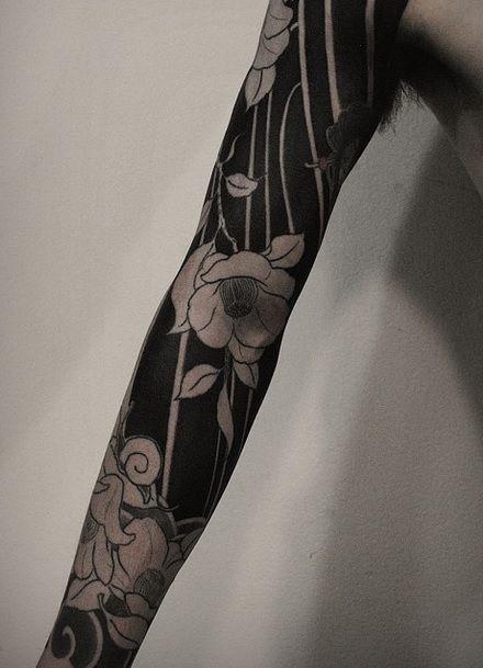 Tattoo Sleeve Negative Space: Negative Space Tattoo
