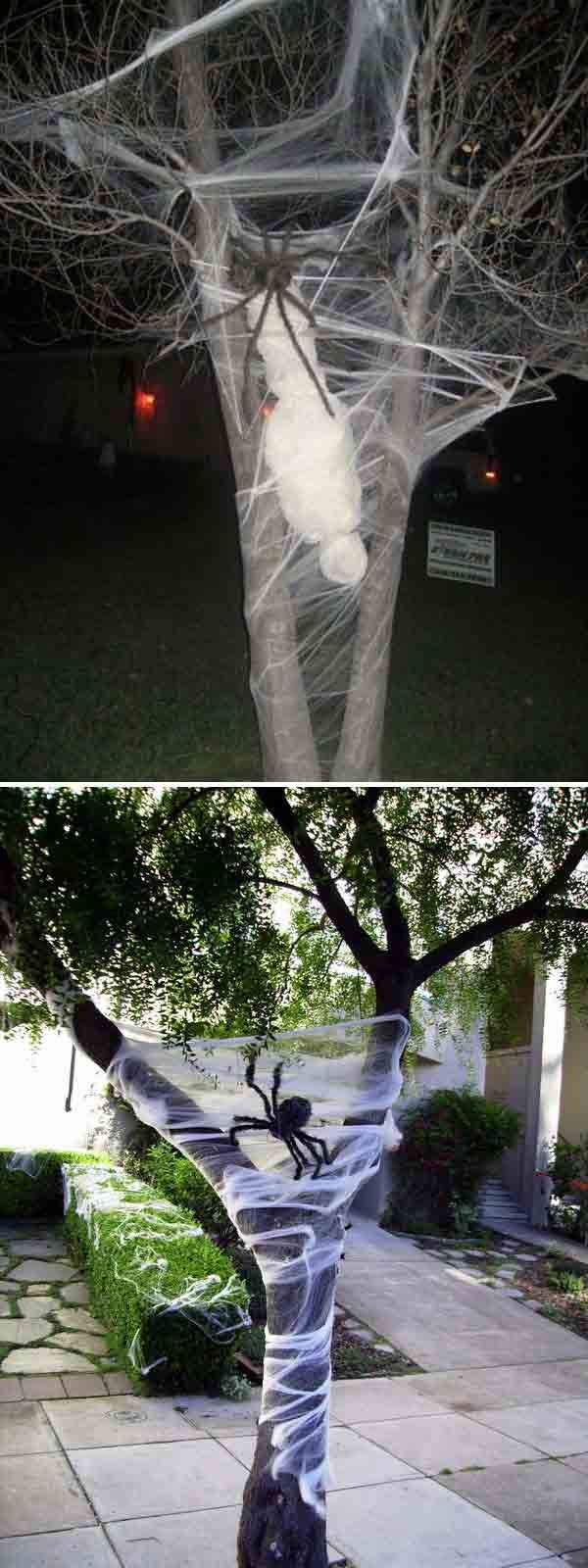 top 21 creepy ideas to decorate outdoor trees for halloween - Scary Homemade Halloween Decorations