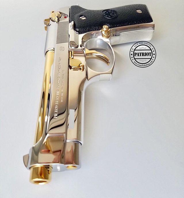 Beretta 92fs done up by @patriot_gun_polishing. | Gun Belongs to @illmanneredgunrunner707 -