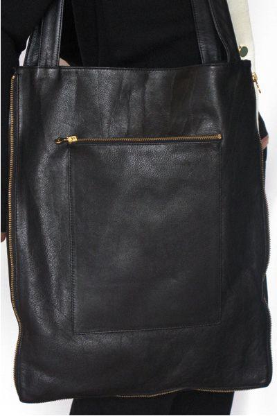 leather bag w zipper