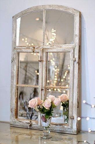 finestra convertida en mirall  Reciclando puertas y ventanas | Decorar tu casa es facilisimo.com