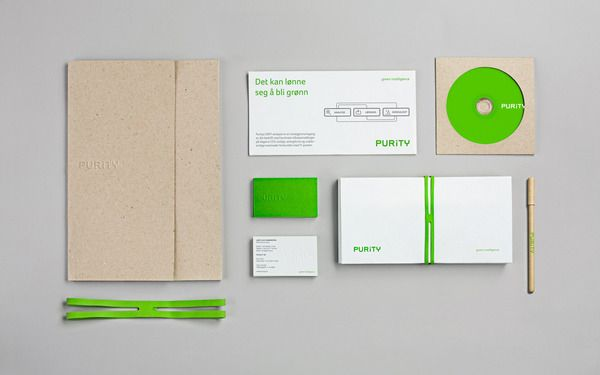 Purity Identity by Heydays via Behance  Purity is an IT-consultancy focusing on green IT, building energy efficient and powerful server solutions for larger companies. #Behance #Heydays #Identity
