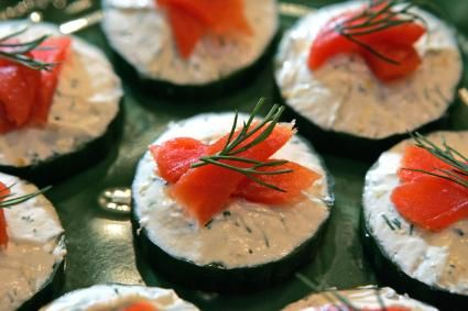 Cucumber Rounds with Smoked Salmon - JSOnline