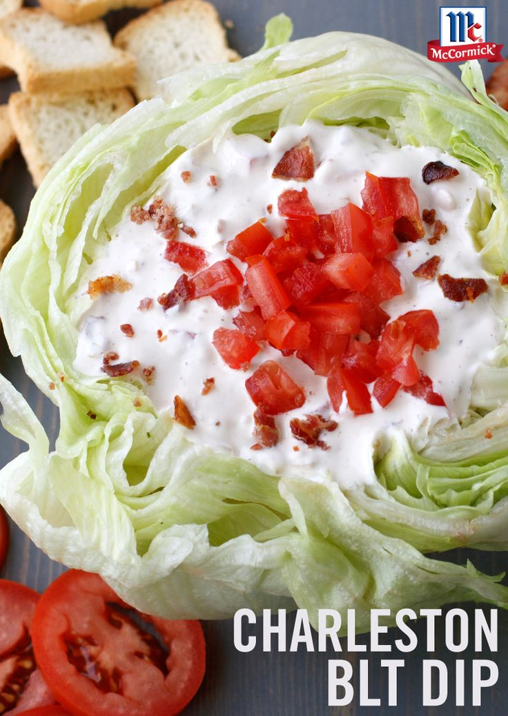 How do you better a BLT? Turn it into a tasty dip recipe. With five easy ingredients - bacon, mayo, sour cream, tomatoes and French Onion Dip Seasoning Mix - you can whip up this dip before the next big football party. Load it on to toasted bread or crackers and discover for yourself why Charleston is so beloved for bacon.