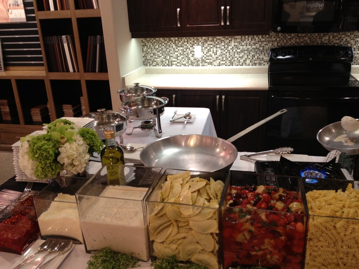 Live pasta station capitol event catering pinterest