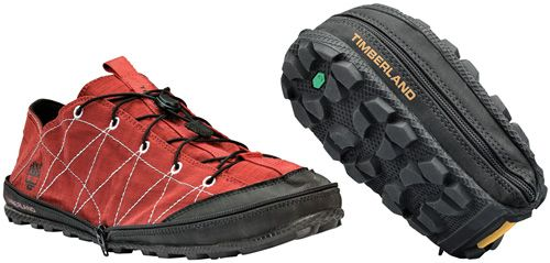 Timberland Radler Trail Camp Shoes Zip Into Themselves For Easier Travel - these look kinda cool.