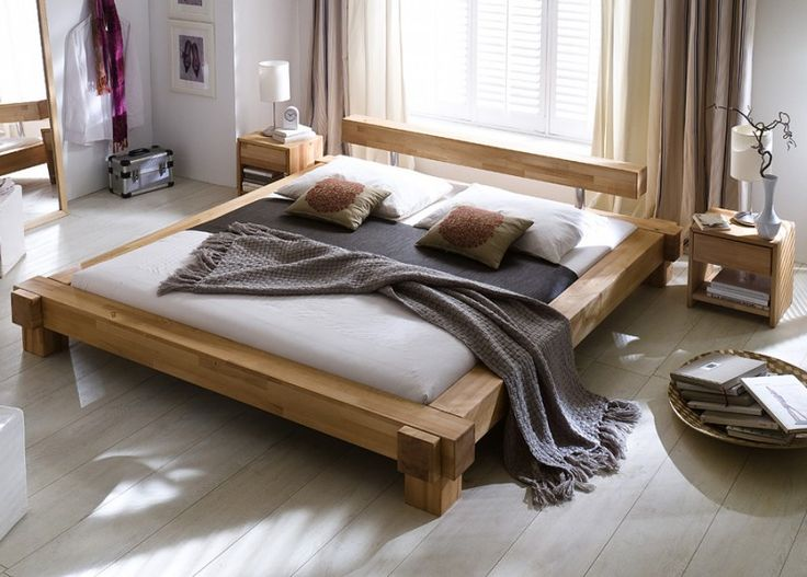 Holzbett massiv 140x200  Die besten 25+ Massivholzbett 140x200 Ideen auf Pinterest | Bett ...