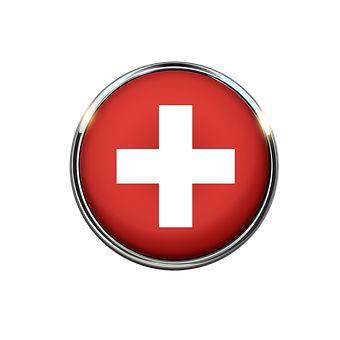Schweiz, Flagge, Kreis