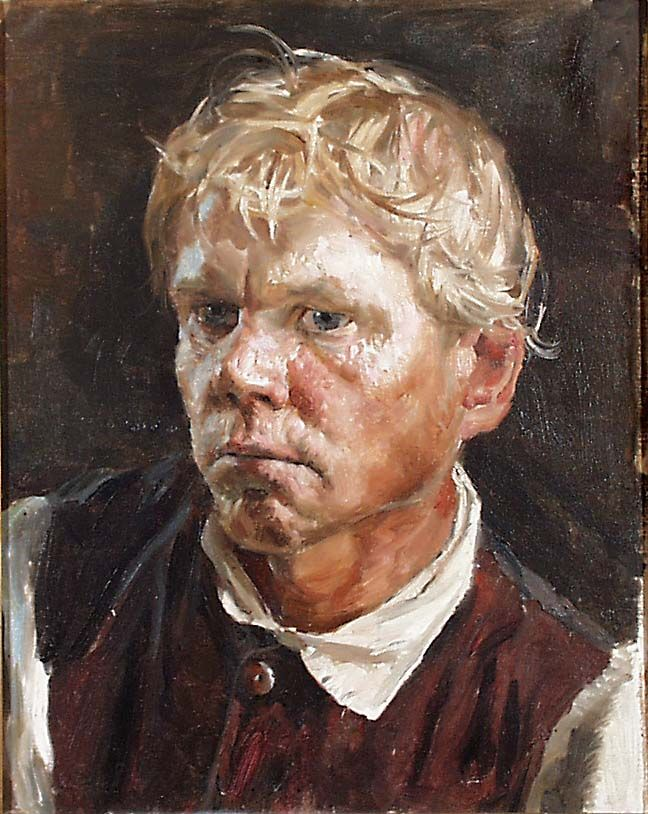 Axel Gallén: Pock-faced Boy from Savo, 1893.