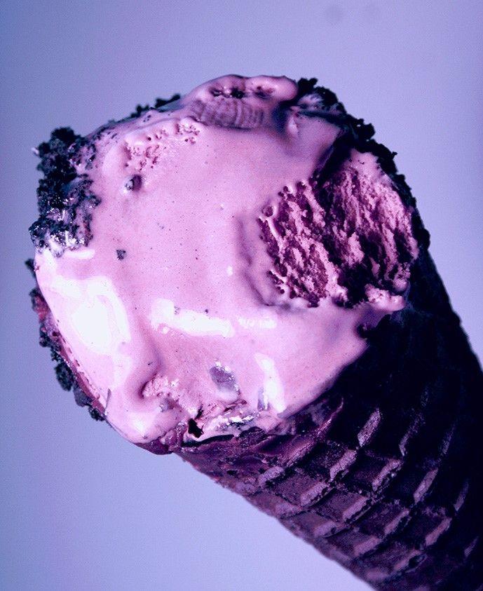 Ежевичное мороженое