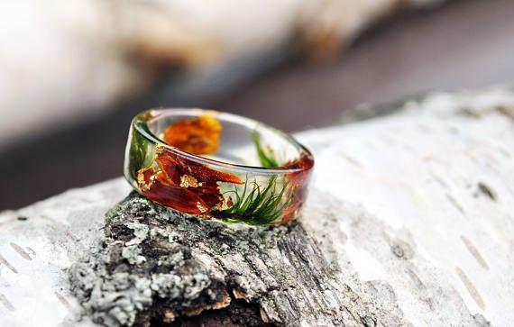 resin moss rings, moss terrarium, nature rings, nature inspired rings,  resin ring flower, resin ring , eco resin, eco resin ring,beige ring