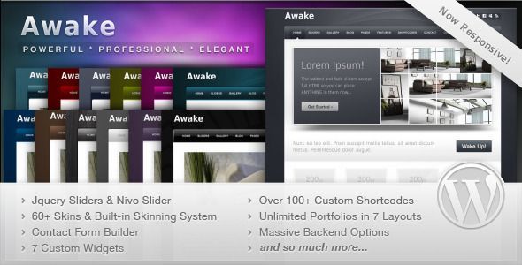 Awake is a fully responsive, powerful WordPress theme with premium features like Nivo Slider and more.