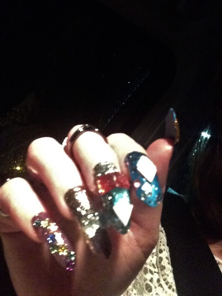 Gypsy Fortune Teller nails for Halloween