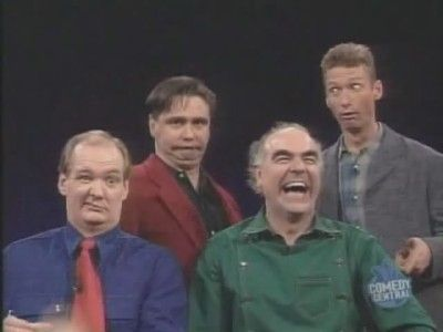 I preferred the original Whose Line Is It Anyway? filmed in the UK. Steve Frost, Colin Mochrie, Ryan Stiles and Tony Slattery.