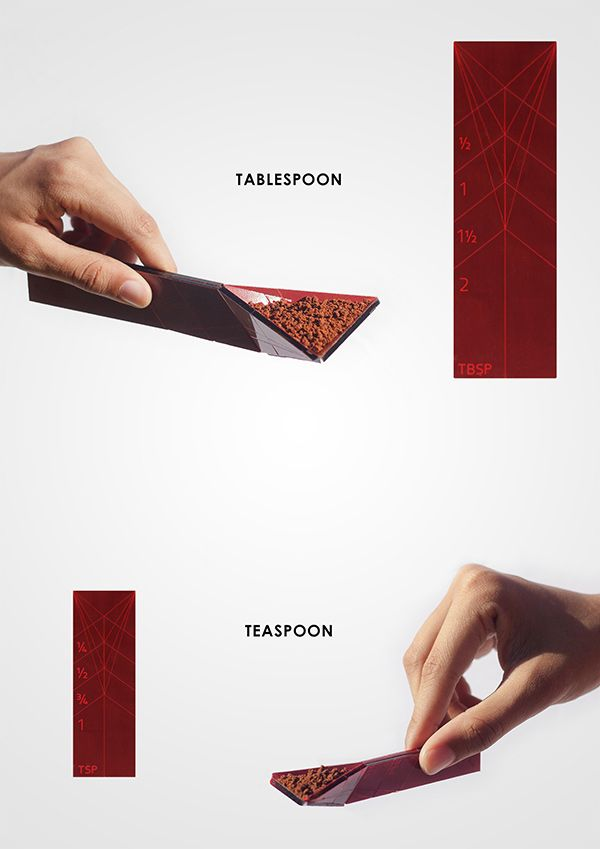 The flat spoon measuring spoon. Simply fold it at the point of how much you need measured. Click to see it in action #spoon #measurement #YankoDesign