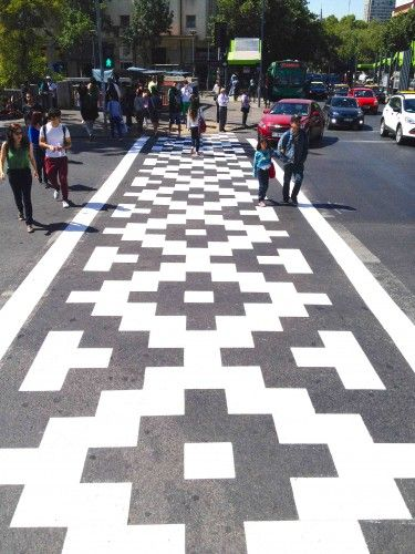 Canadian artist Roadsworth believes street crossings should be more than asphalt safety keyboards.