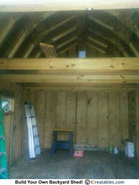 12x16 gambrel shed plan loft owners shed pictures for Barn storage sheds with loft